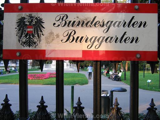 Burggarten Sign, Ringstrasse, Vienna