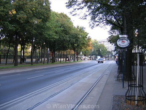 Burgring Tram Stop at Ringstrasse
