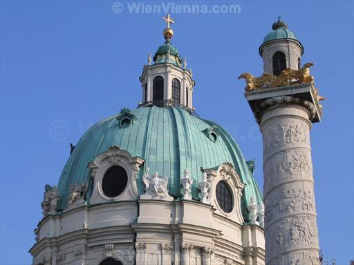 Karlskirche Dome and Column