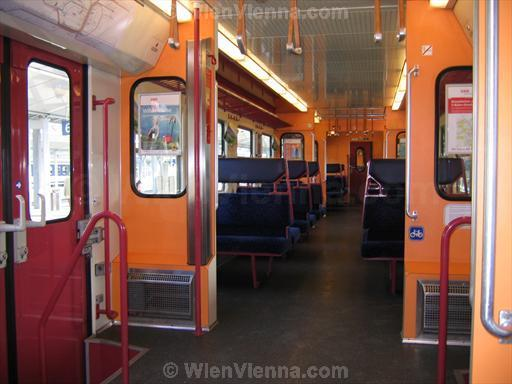 Interior of Vienna S-Bahn Train