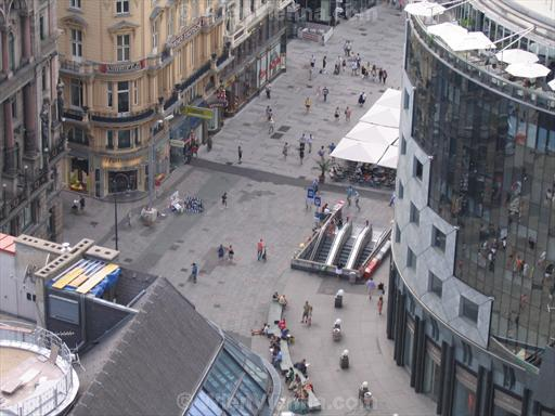 Stephansplatz Seen from Stephansdom South Tower