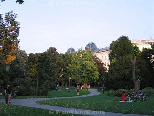 Vienna Burggarten Park near Burgring