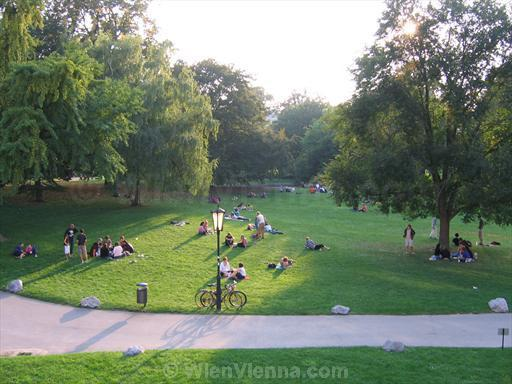 Vienna Burggarten Park on a Summer Afternoon