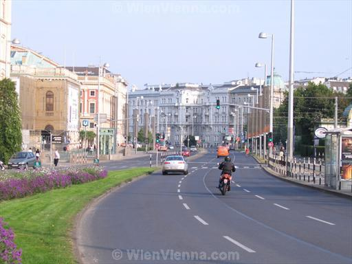 Vienna Karlsplatz, View towards Lothringerstrasse