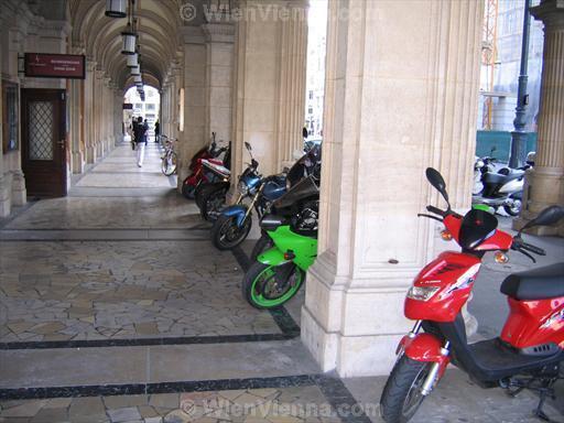 Motorbikes Parked at Vienna State Opera