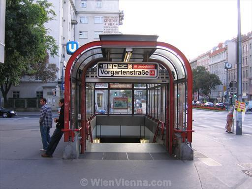 Vorgartenstrasse U-Bahn Station Entrance